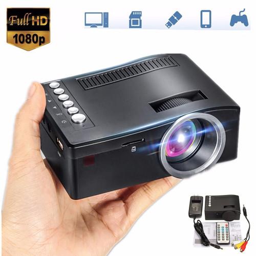 Mini Cinema Home Theater System 1080P HD Multimedia Projector TV AV USB TF HDMI PC LED Digital Pocket Home Projector Home