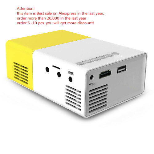 Dropshipping YG300 LED Portable Projector 400-600LM Audio 320x240 Pixels YG-300 HDMI USB Mini Projector Home Media Player