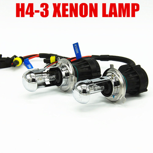 12v 35W 55W H4-3 Hi/Lo Beam Lamp hid light Xenon h4 bulb 6000K car lighting Automotive for BiXenon hid kit free shipping
