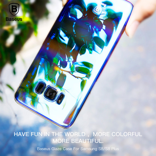 Baseus Luxury Plating Gradient Hard Plastic Case For Samsung S9 S9 Plus Ultra Thin PC Phone Cover For Samsung S8 S8 Plus Coque