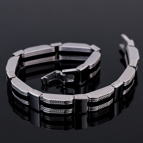 Trendy Black Silicone Bracelets For Men 10MM Wide 316L Stainless Steel Man Bracelet Bangle Fashion Jewelry Accessories TrustyLan