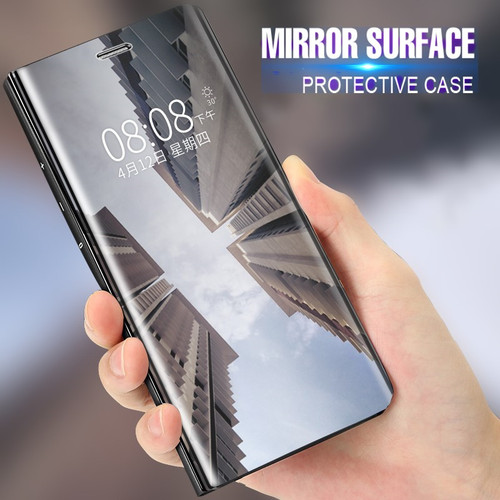 Flip Stand Mirror Case For OPPO F7 F5 R11 R11Plus A71 A83 A59 R15 Standard Case Clear View PU Leather Cover For OPPO Find X Bag