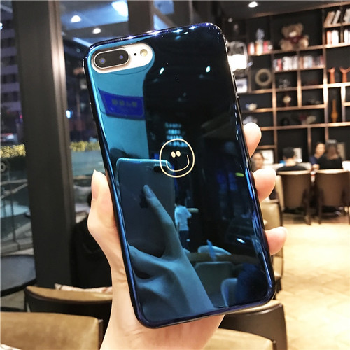 Lovebay Phone Case For iPhone 6 6s 7 8 Plus X Fashion Blu-Ray Cute Cartoon Smiling Face Soft TPU For iPhone 8 Phone Case Cover