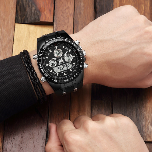 Watch Men Fashion Sport Quartz Clock Mens Watches Top Brand Luxury Led Digital Waterproof Black Wrist Watch Relogio Masculino
