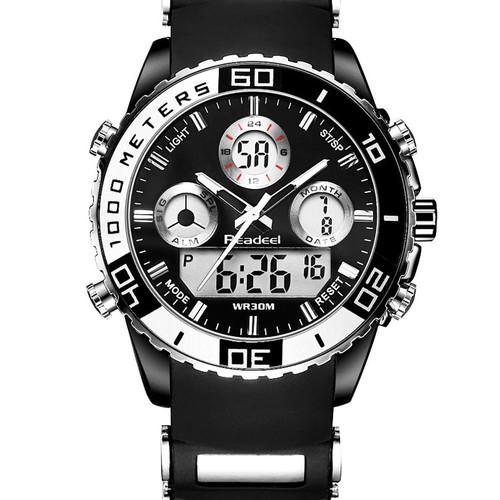 Top Luxury Brand Quartz Men Sport Watches Men's Quartz Rubber LED Analog Clock Man Military Waterproof Watch relogio masculino