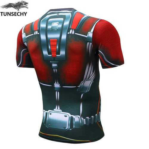 MEW TUNSECHY Compression Shirt Superman Captain America Punisher Iron man 3D Print T-Shirt Superhero Crossfit Mens Style T Shirt