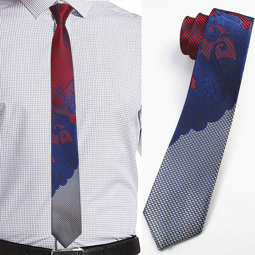 RBOCOTT Mens Slim Tie Fashion Paisley Tie 6cm width Skinny Ties For Men Wedding Party Narrow Neckties Gravatas Corbatas