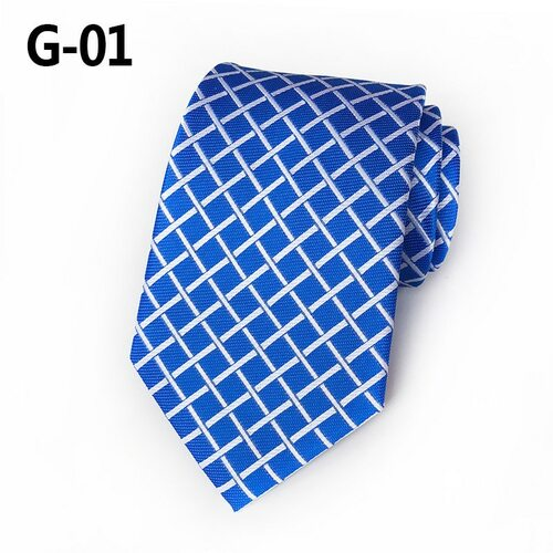 CityRaider Corbatas Hombre 2018 New Plaid Silk Ties for Men Necktie Blue Slim Neckties Mens Wedding Necktie Gravatas Kravat A099