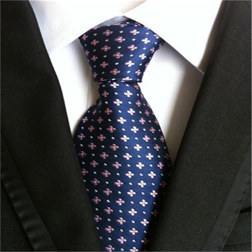Cravate 2018 Classic Floral Print Mens Slim Neckties Gravata 8cm Silk Ties for Man Wedding Tie Blue Silk Corvatas A020