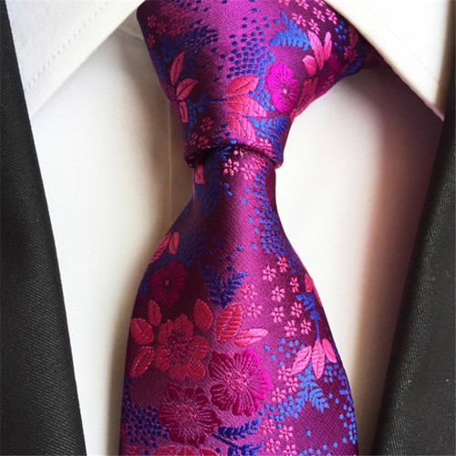 SCST 2017 New 8cm Slim Necktie Cravate Floral Print Silk Neckties Mens Ties For Men Tie Men's Gravata Orange Corbatas A002