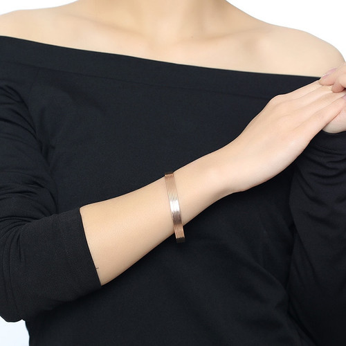 Vnox Elegant Women Bangle Magnetic Health Care Heal Eliminating Fatigue Cuff Bracelet Bio Energy Power Female Lady Jewelry