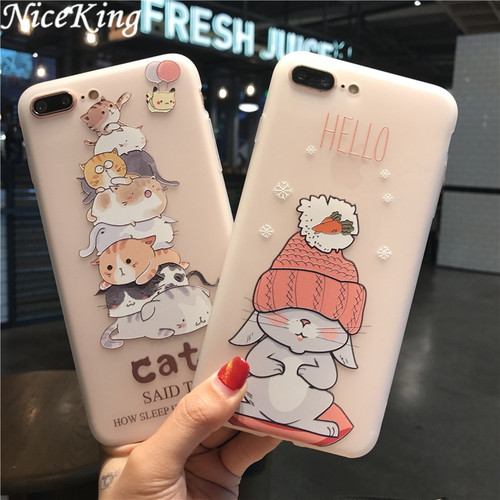 sFor iPhone 7 Case iPhone 6 Case Silicone Niceking Cute Cartoon Matte TPU Soft Back Cover Case For iPhone X 6S 6 7 8 Plus Coque