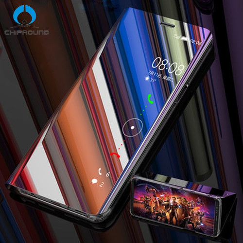 Mirror Clear View Flip Cover For Huawei P20 Pro P20 lite Mate 10 Pro Full Smart Phone Case For Huawei P10 Plus P9 Honor 8 lite