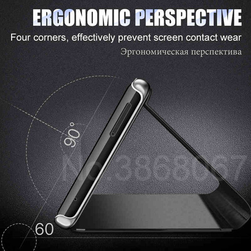 MooPok Luxury Smart View Phone Case For Samsung Galaxy S9 S8 Plus Flip Stand Cover Cases For Samsung Galaxy S7 Edge Note 8 Case