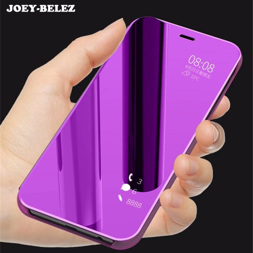 Flip Case For Samsung J4 J6 J8 2018 Stand Leather Clear View Mirror Cover For Galaxy A9 Star lite A5 A6 A7 A8 Plus J7 Duo Note 9