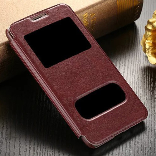 For Samsung galaxy J1 J3 J5 J7 2016 Luxury Smart Front Window View Leather Flip Case For samsung galaxy j5 2016 Case Cover Coque