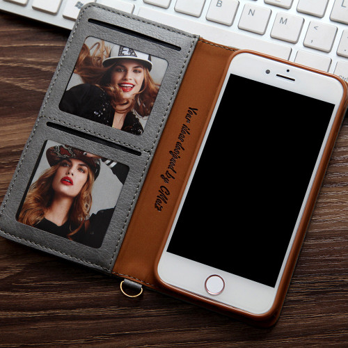 Leathe Flip Case For iPhone 6 6s 7 8 Plus Silicone Wallet Cover iPhone X Case With Credit Card Holder Phone Coque For iPhone 6 S