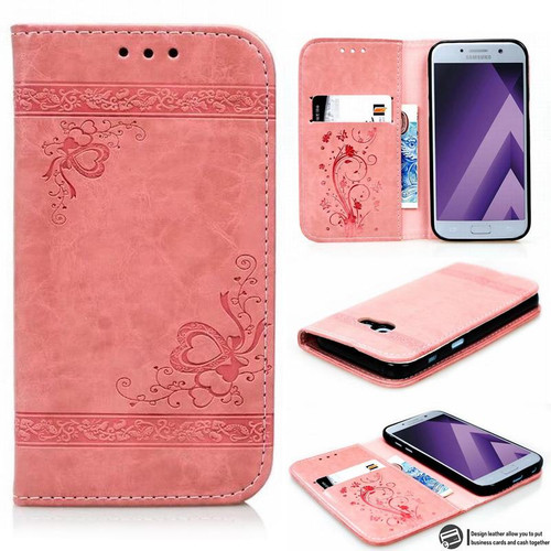 Embossed Wallet Case For Samsung Galaxy A5 2017 Case Leather Flip Cover Samsung Galaxy A5 2016 Cover Cases Mobile Phone Shell