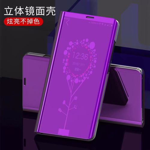 Clear View Mirror Smart Case For Samsung S9 S8 Plus S7 J4 J6 A6 2018 A3 A5 A7 Note 9 Flip Stand Case For iPhone 6 6s 7 8 Plus X