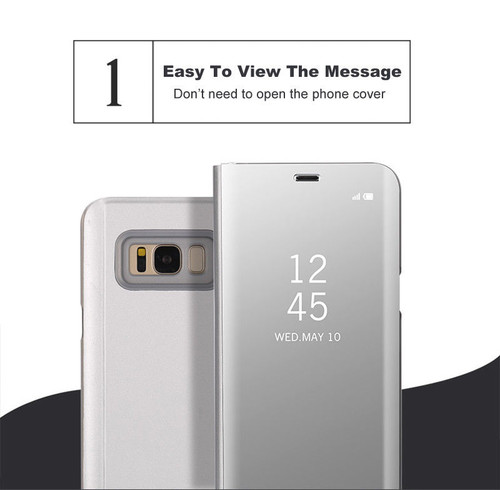 For Samsung Galaxy S8 S9 Plus S6 S7 Edge Note 8 Smart Clear Mirror View Case For Samsung A3 A5 A7 J3 J5 J7 2017 Flip Stand Cover