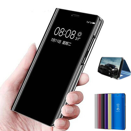 Clear View Mirror Smart Case For Huawei P20 P20 Pro P9 P10 Plus Leather Flip Stand Cover For Huawei Honor V10 8 9 Mate 10 Lite