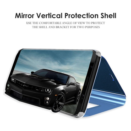 SHUOHU Luxury Mirror Flip Case For iPhone 7 8 Plus Cases Smart Cover For iPhone 6 6s Plus Phone Holder Case For iPhone X Housing