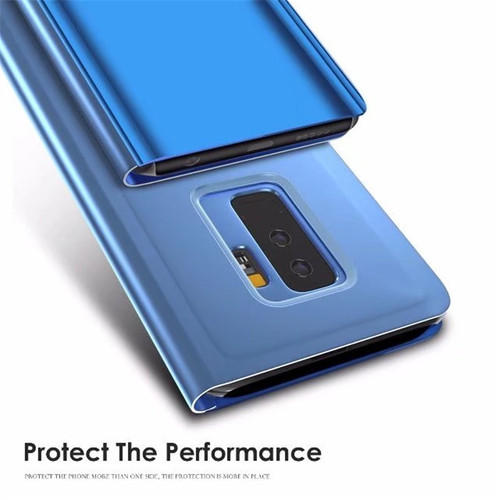 OCUBE Smart Stand View Window Flip Case For Samsung Galaxy A6 J6 S9 Plus Mirror Clear View Phone Case For Samsung Galaxy Note 9