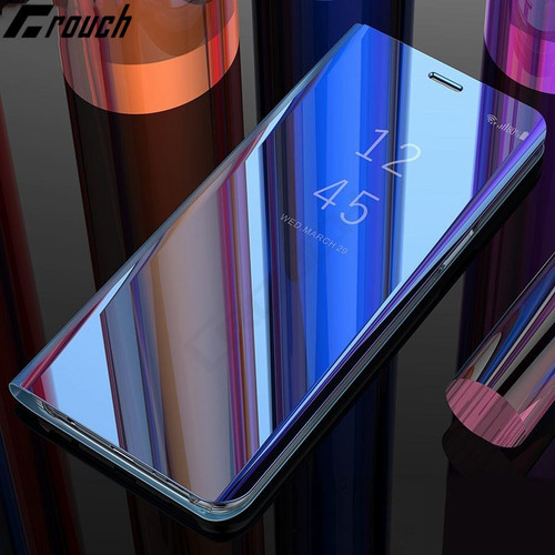 Crouch Flip Cover Leather Case For Samsung Galaxy S8 7 6 Plus S9 Plus Note 9 8 S8 Note8 S 9 8 Phone Cases Smart Clear View Cover