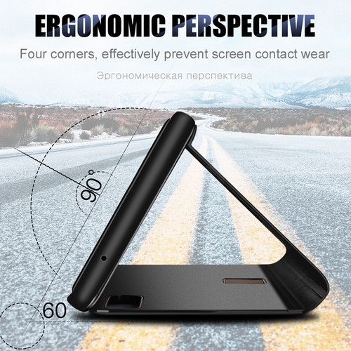 Proelio Smart Mirror Clear View Phone Cover For Huawei Mate 10 Lite Mate 8 9 Leather Flip Case For Huawei Mate 10 Pro Case Coque
