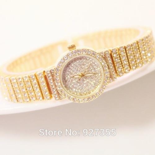 2017 New Women Full Rhinestone Watches Rose Gold Dress Watches Full Diamond Crystal Women's Luxury Watches Female Quartz Watches