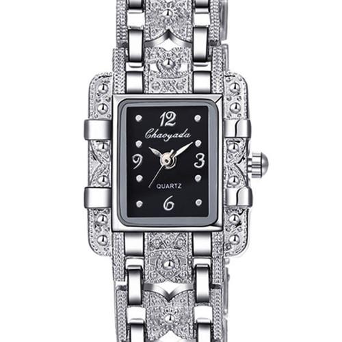 2018 Top Brand Luxury Elegant Style Silver Bracelet Watch Women Ladies Rhinestone Dress Watches Full Steel Hour relogio feminino