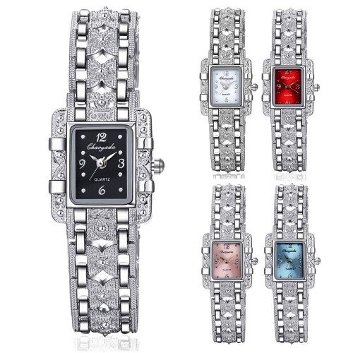2018 Top Brand Luxury Elegant Style Silver Bracelet Watch Women Ladies Rhinestone Dress Watches Full Steel Hour relogio feminino