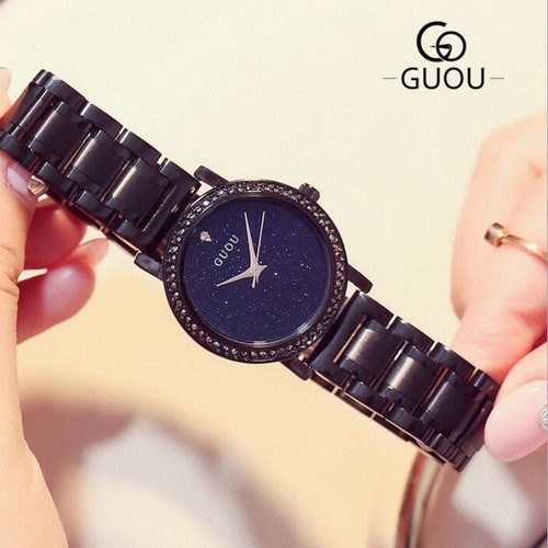 GUOU Luxury Diamond Watch Women Watches Shiny Rhinestone Women's Watches Full Steel Clock saat relogio feminino reloj mujer