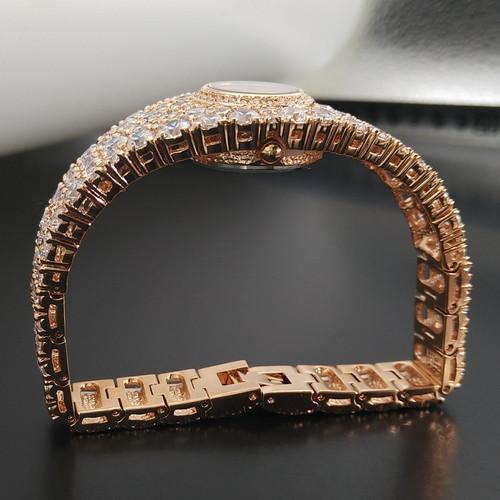 Luxury Melissa Lady Women's Watch Elegant Full Rhinestone CZ Fashion Hours Dress Bangle Crystal Clock Girl Birthday Gift Box