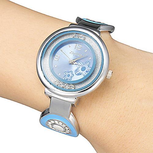 Xinhua 2016 Women Full Steel Quartz Luxury Brand Waterproof Top Rolling Rhinestone Girl Dress Fashion Casual Bracelet Watches
