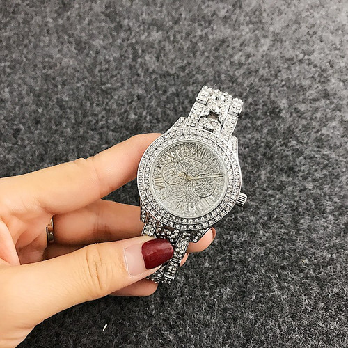 CONTENA Top Shiny Diamond Watch Luxury Rhinestone Bracelet Watch Women Watches Full Steel Women's Watches Clock saat reloj mujer