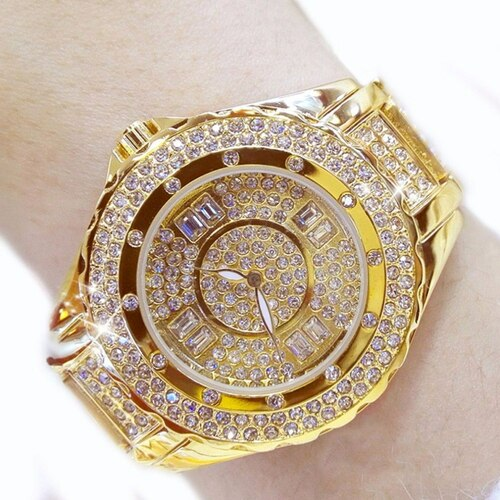 Golden Silver Rose Gold Famous Brand 2018 New Luxury Contena Ladies Watches Rhinestone Full Diamonds Women Dress Watches