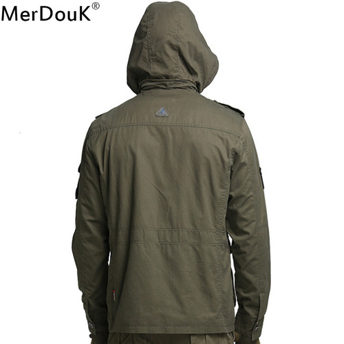 Men jacket For Winter jean military army soldier cotton Air force one male Brand clothing Mens jackets Gentleman