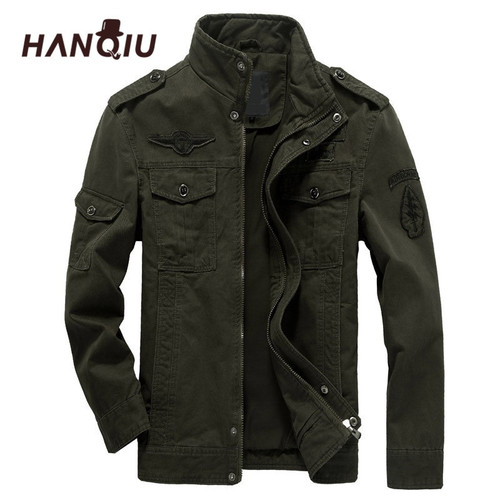 Plus 6XL Men jacket jeans military army soldier cotton Air force one male Brand clothing Spring Autumn Mens Bomber jackets
