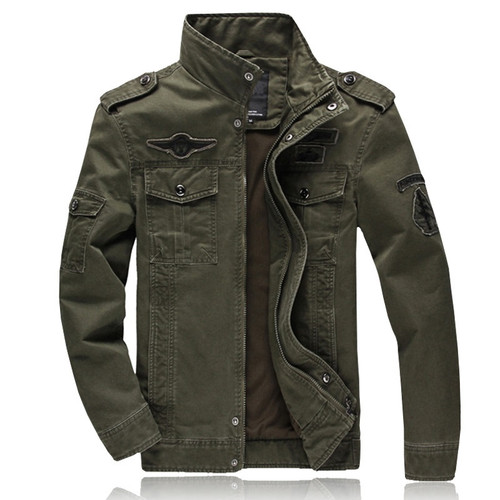 hot sale spring Autumn Mens military Denim jacket jean cotton Air Force One coat army soldier male Brand outwear plus size M-6XL