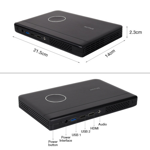 Touyinger W7 Window 10 System Computer Projector DLP Mini Portable Proyector WiFi Bluetooth With Battery Use For Business Office