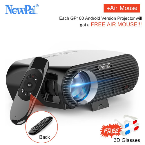 Newpal Projector GP100UP LED Projector 4K Home Cinema 3500 Lumens Full HD 1080P Android 6.01 WIFI Bluetooth Miracast Beamer TV