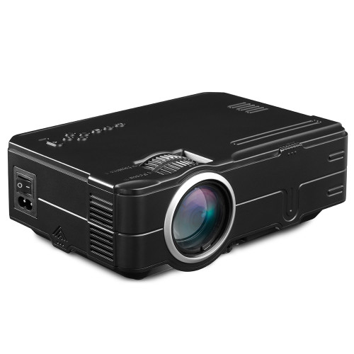 Rigal RD812 Mini LED Projector WiFi Wireless Wired Sync Display LCD 3D Projector Multi Screen HDMI VGA USB Video Home Theater