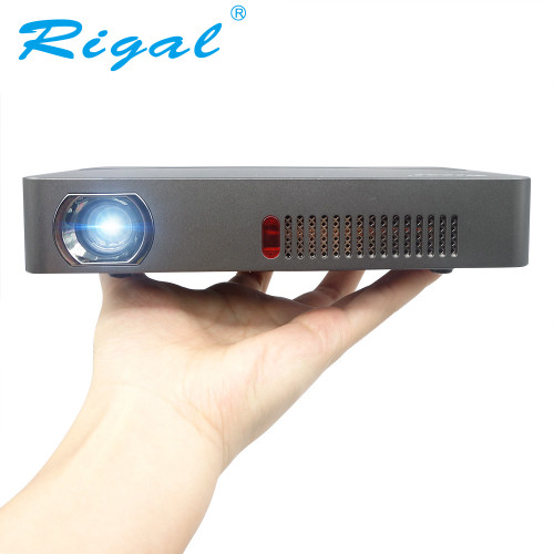 Rigal Projector RD601 10000mAh Battery Android (Optional) WIFI LED MINI DLP HD Projector 3D Beamer 350 ANSI Lumens Home Theater