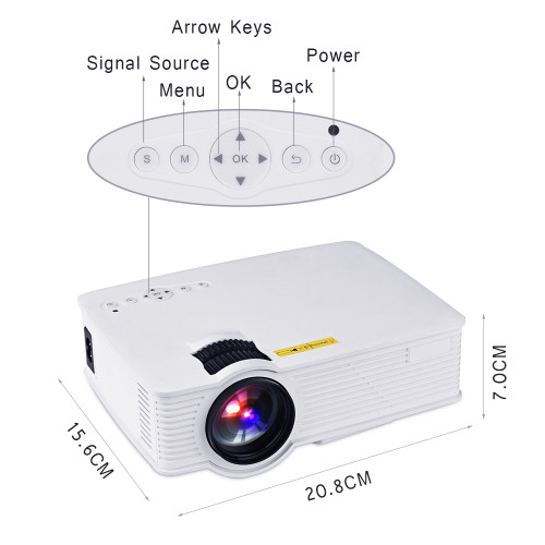 Touyiner Everycom UC40S BT140 Portable Projector( Android Miracast Airplay Optional )Home Theater Support 1080P Video Projector
