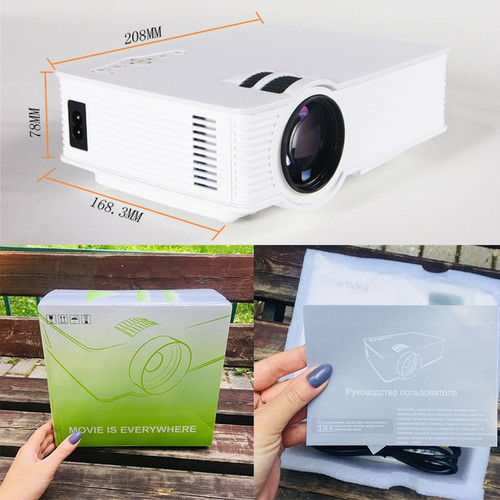 1800lumen Android Smart LED 3D Home Mini Projector Portable Video Game LCD Proyector Beamer HDMI AV USB SD Support Full HD 1080P