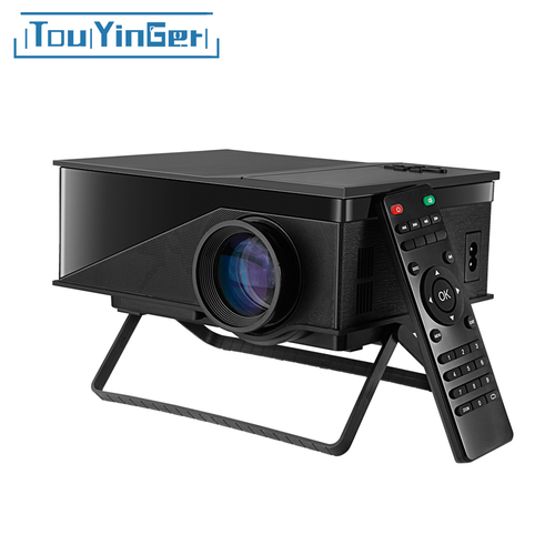 TouYinger T1 LED Mini Projector Support HD 1080P Video Home Theater LCD Beamer Cheap Digital Portable am01s Projector pk uc40