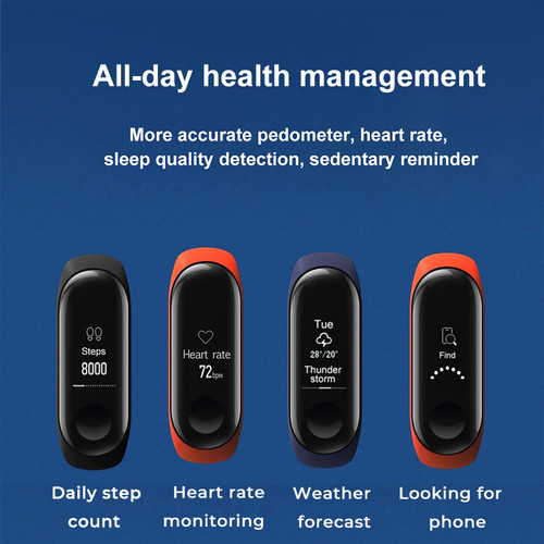 IN STOCK 2018 New Original Xiaomi Mi Band 3 Smart Bracelet, 0.78 inch OLED Instant Message Caller ID Weather Forecate Mi Band 3