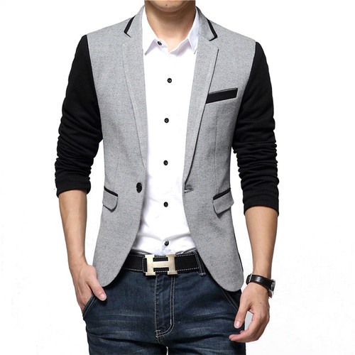 New Men Blazer Fashion Luxury Woolen Blends Patchwork Slim Suit Jackets Business Suit Male Wedding Dress Men M-6XL