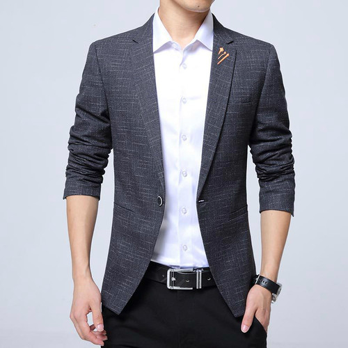 Men Blazer Designs 2017 New Fashion Plus Size Mens Plaid Blazer Slim Fit Men's Blazers and Suit Jacket Blaser Male